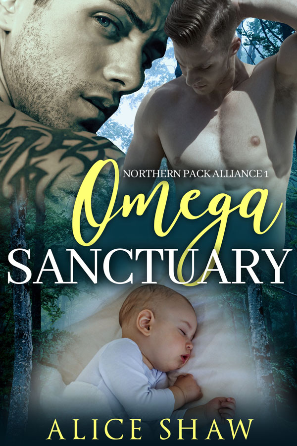 Book Cover: Omega Sanctuary: An M/M MPREG Romance