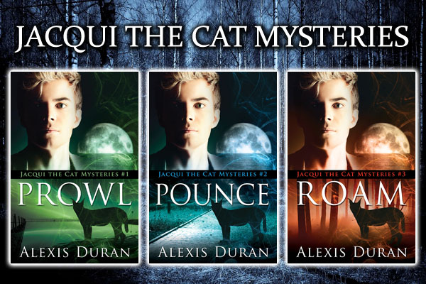 ANNOUNCEMENT/GIVEAWAY: Jacqui the Cat Mysteries, by Alexis Duran